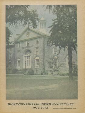 """""""Dickinson College 200th Anniversary 1972-1973,"""" by The Evening Sentinel"""