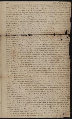 Letter from Charles Nisbet to Jonathan Ingham