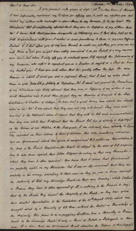 Letter from Charles Nisbet to Ashbel Green