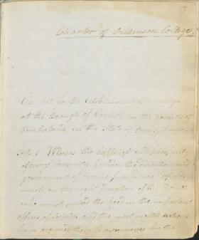 Charter of Dickinson College