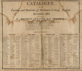 Catalogue of the Faculty and Students of Dickinson College, 1811-12