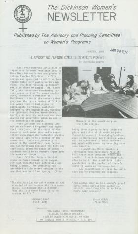 Dickinson Women's Newsletter (Jan. 1974)