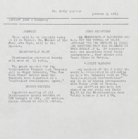 The Daily Senator (Spring 1963)