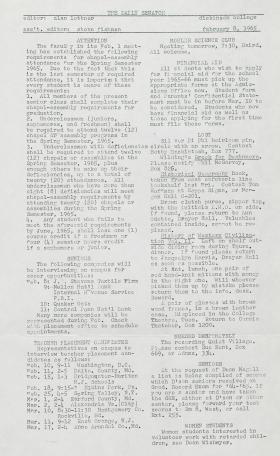The Daily Senator (Spring 1965)