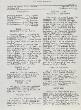 The Daily Senator (Spring 1959)