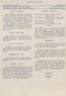 The Daily Senator (Spring 1960)