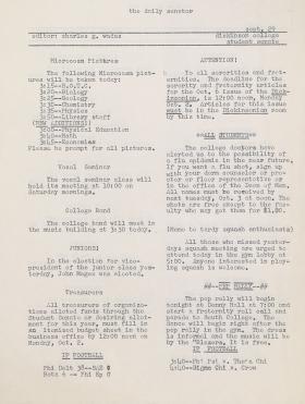 The Daily Senator (Fall 1961)