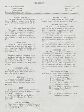 The Senator (Fall 1969)