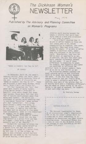 Dickinson Women's Newsletter (May 1974)