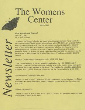Women's Center Newsletter (Mar. 1996)