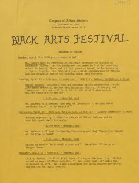 Black Arts Festival 1982