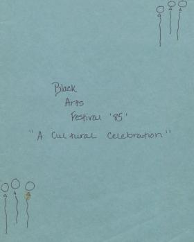 Notebook for Black Arts Festival 1985