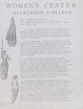 Report on Activities of the Women's Center, 1984-85