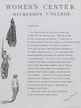 Women's Center Newsletter (Fall 1984)
