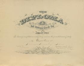 Dickinson Preparatory School Diploma - James Steese