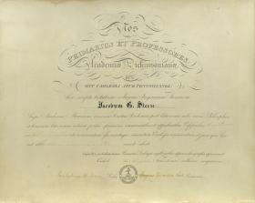Master of Arts Diploma - James Steese