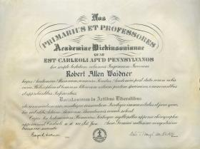 Bachelor of Arts Diploma - Robert Waidner