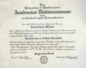 Bachelor of Arts Diploma - Donna Williams