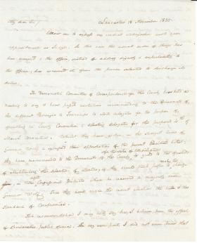 Letter from James Buchanan to Roberts Vaux