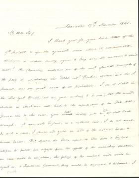 Letter from James Buchanan to Ross Wilkins