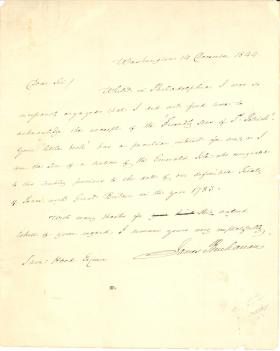 Letter from James Buchanan to Samuel Hood
