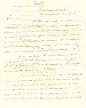 Letter from James Buchanan to William W. McKean