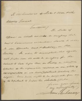 Letter from James Buchanan to Lewis Cass, John B. Floyd, and Jeremiah S. Black