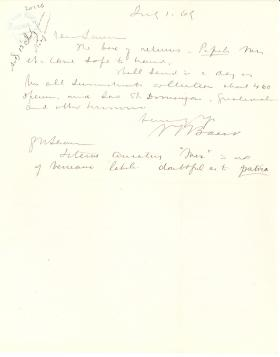 Letters from Spencer Baird to George Lawrence (Jul. - Aug. 1869)