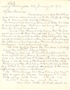 Letters from Spencer Baird to George Lawrence (Jan. - Mar. 1870)