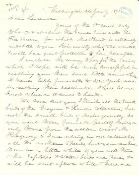 Letters from Spencer Baird to George Lawrence (Jan. - Mar. 1871)