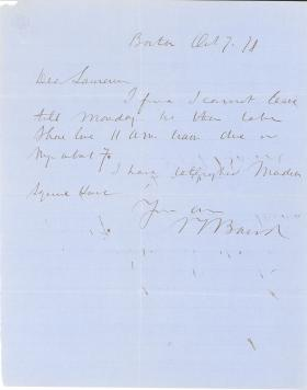 Letters from Spencer Baird to George Lawrence (Oct. - Dec. 1871)