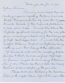 Letters from Spencer Baird to George Lawrence (Jan. - Feb. 1872)