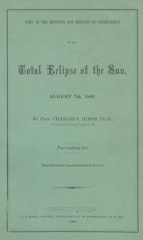 """Total Eclipse of the Sun,"" by Charles F. Himes"