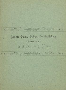 """Jacob Tome Scientific Building,"" by Charles F. Himes"