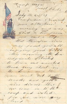Letters from John Cuddy (Jun. - Aug. 1861)