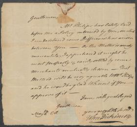 Letter from John Dickinson to Baynton and Wharton