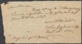 Letter from John Dickinson to Samuel C. Morris & Mr. Cadwalader (Copy)