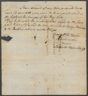 Letter from John Dickinson to Samuel C. Morris