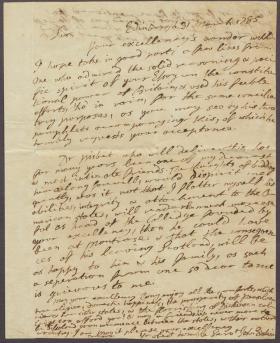 Letter from John Erskine to John Dickinson