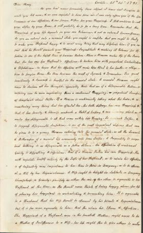 Letters from Charles Nisbet to Mary Nisbet