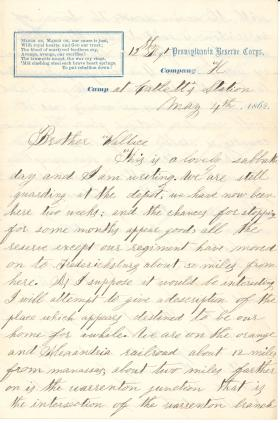 Letters from Thomas Dick (May - Aug. 1862)