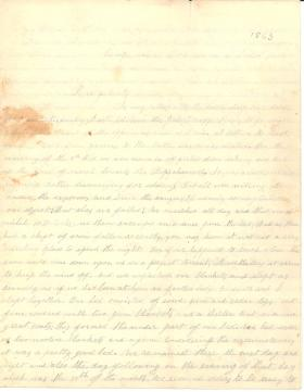 Letters from Thomas Dick (Jan. - Feb. 1863)