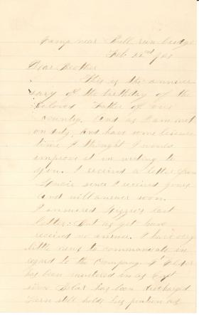 Letters from Thomas Dick (Feb. - Mar. 1863)