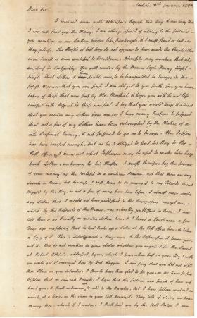 Letters from Charles Nisbet to William Young, 1790-91