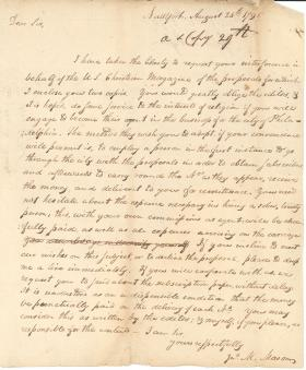 Letter from John Mitchell Mason to William Young