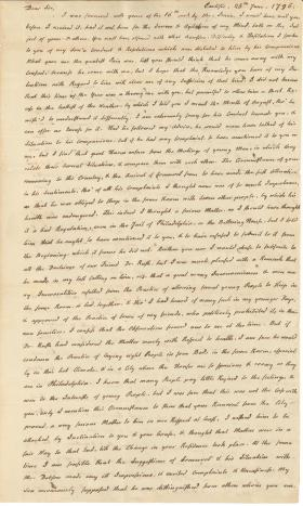 Letters from Charles Nisbet to William Young, 1796-99