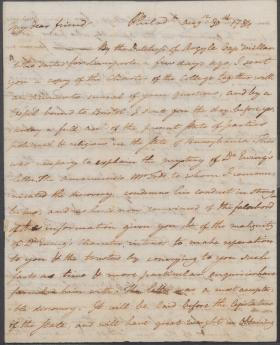 Letter from Benjamin Rush to Charles Nisbet