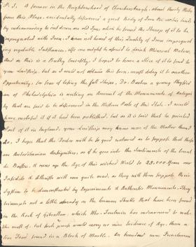 Letter from Charles Nisbet to Unknown Recipient