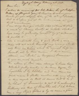 Letter from David Erskine to Charles Nisbet