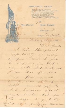Letters from John Cuddy (Feb. 1862)